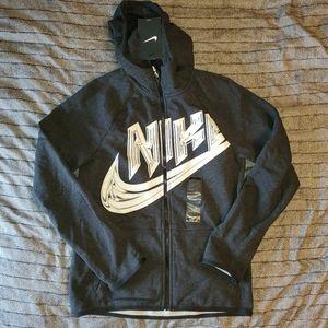 New boys Nike zip-front hoodie